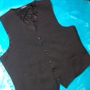 Other - Men's suit tuxedo vest black size large wool
